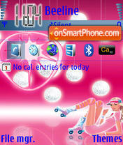 Pink Hed Kandi theme screenshot