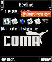 Coma S60v3 theme screenshot