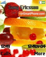 Fruits tema screenshot