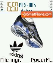 Adidas Blue tema screenshot