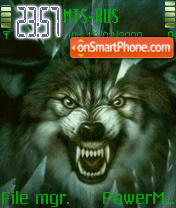 Angry Wolf Animated theme screenshot