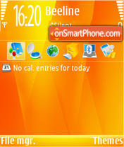 Orange 07 theme screenshot