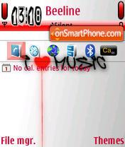 I Heart Music theme screenshot