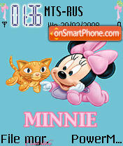 Animated Minnie es el tema de pantalla