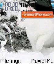 Snowy Cat es el tema de pantalla
