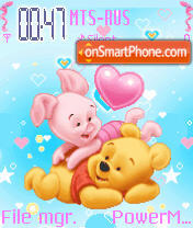 Pooh N Piglet Animated theme screenshot
