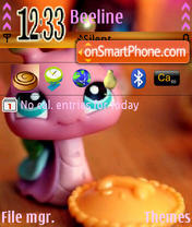 Pink Snail theme screenshot