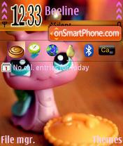 Скриншот темы Pink Snail