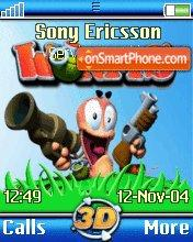 Worms3d es el tema de pantalla