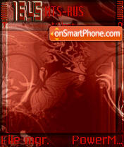 Red L'Amour S60v2 theme screenshot
