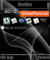 Black Leaves S60v3 theme screenshot