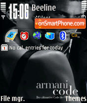 ArmaniCode theme screenshot