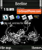 B&W L'Amour S60v3 theme screenshot