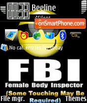 Fbi 01 theme screenshot