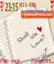 Shall We Love Animated es el tema de pantalla