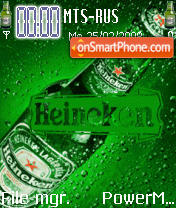 Heineken Beer Animated theme screenshot