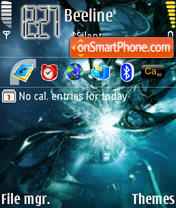 AbstractBlue theme screenshot