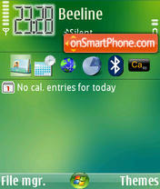 Upfone Media Center 2008 theme screenshot