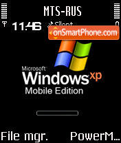 Animated Windows XP Mobile S60v2 es el tema de pantalla