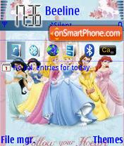 Disney Princesses es el tema de pantalla