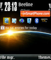 Sunrise 01 theme screenshot
