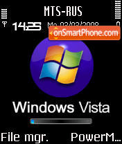 Animated Vista 2 S60v2 theme screenshot