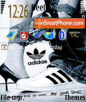 Adidas The Best theme screenshot