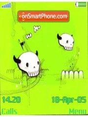 Green Skulls theme screenshot