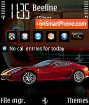 Ferrari 599 240yI theme screenshot