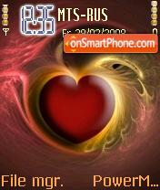 3d Heart Love es el tema de pantalla