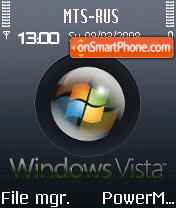 Animated Brushed Metal Vista S60v2 es el tema de pantalla