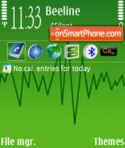 Green Line v2 theme screenshot