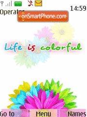 Скриншот темы Colourful Life