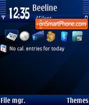 Blue Night 01 Theme-Screenshot