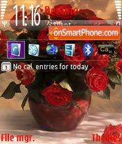 Скриншот темы Flowers Red