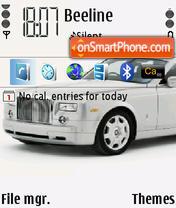 Rolls Royce Phantom Silver es el tema de pantalla