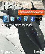 Скриншот темы Blackbird