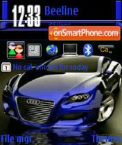 Blue Audi Locus theme screenshot