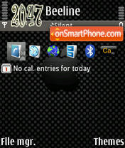 Black Apple 01 theme screenshot
