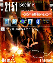 Amon Amarth theme screenshot