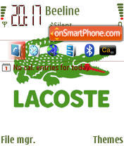 Lacoste 563 theme screenshot