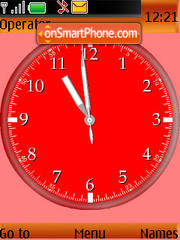 Glod Fish Clock theme screenshot
