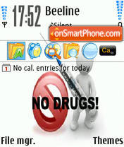 No Drugs theme screenshot