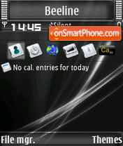 Vista Business BW S60v3 theme screenshot