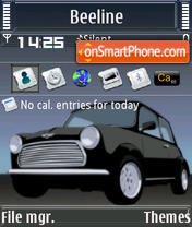 Mini Cooper S60v3 theme screenshot