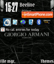 Giorgio Armani theme screenshot