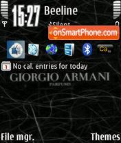 Скриншот темы Giorgio Armani