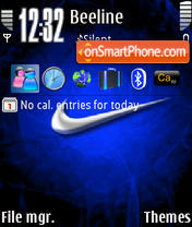 Nike Blue theme screenshot