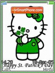 St Pats Hello Kitty es el tema de pantalla