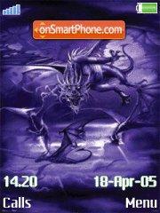 Dragon Swarm theme screenshot